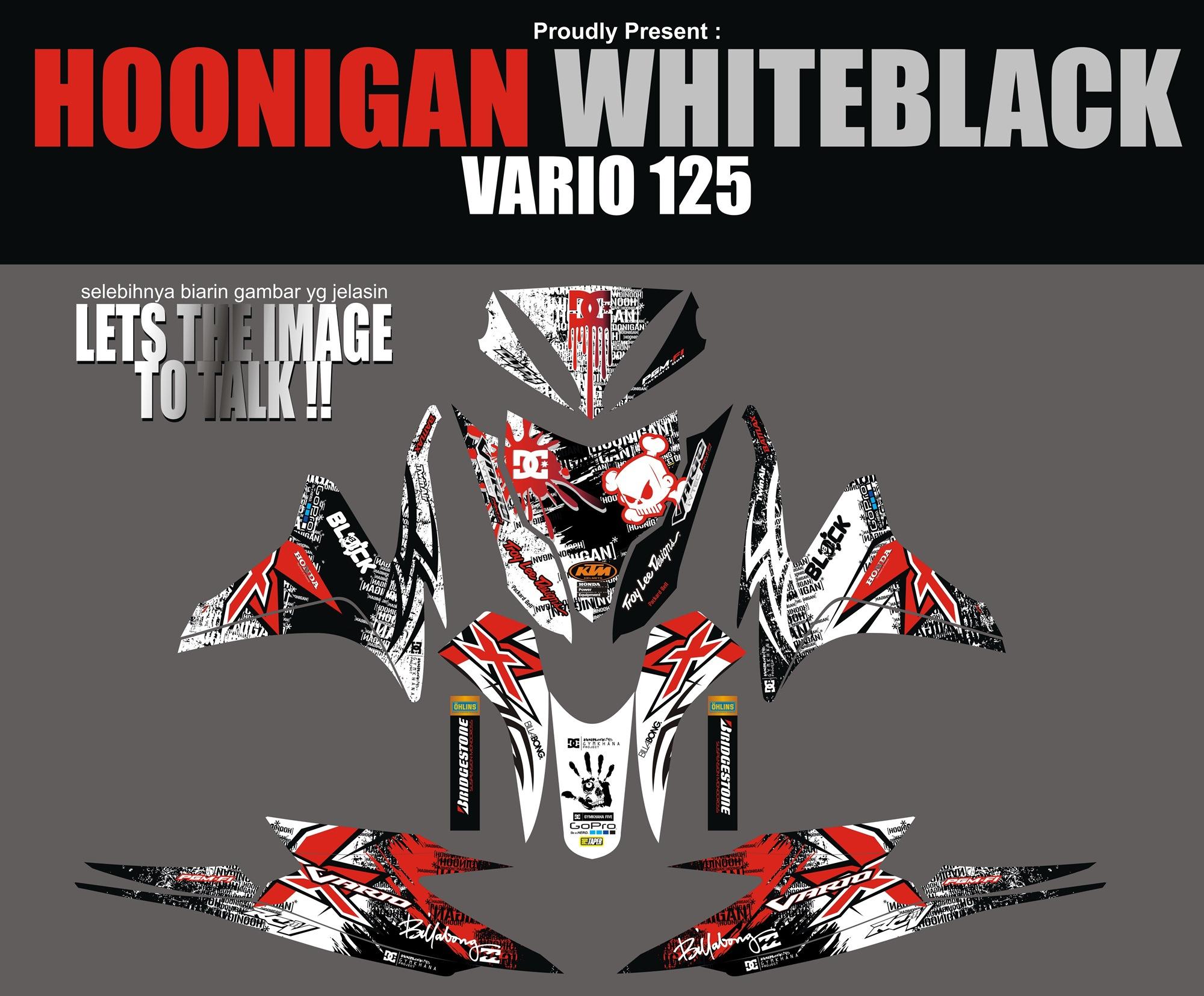Striping Motor Vario Fi 125 Hoonigan