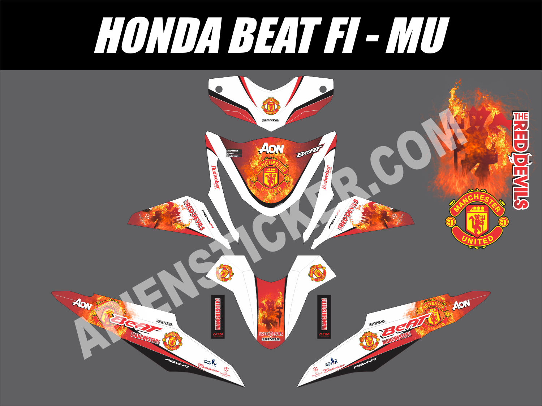 Striping Motor Beat FI Manchester United | Apien Sticker