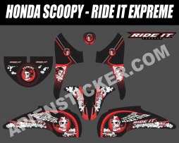 Striping Motor Honda Scoopy Ride It
