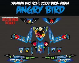 Striping Motor Mio Soul Angry Bird-Biru