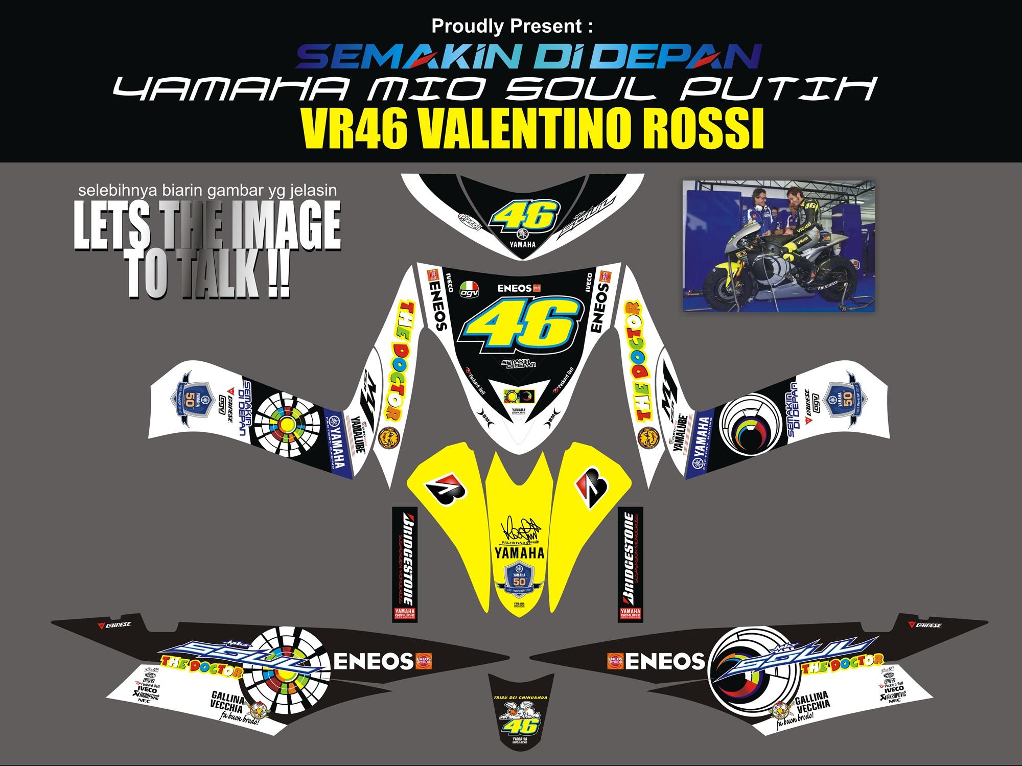 Striping Motor Mio Soul Valentino Rossi | Apien Sticker