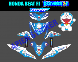 Striping motor Beat FI Doraemon biru