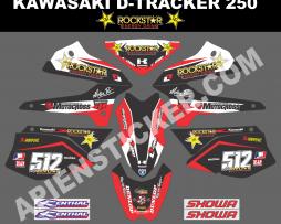 Striping motor Kawasaki D-tracker 250