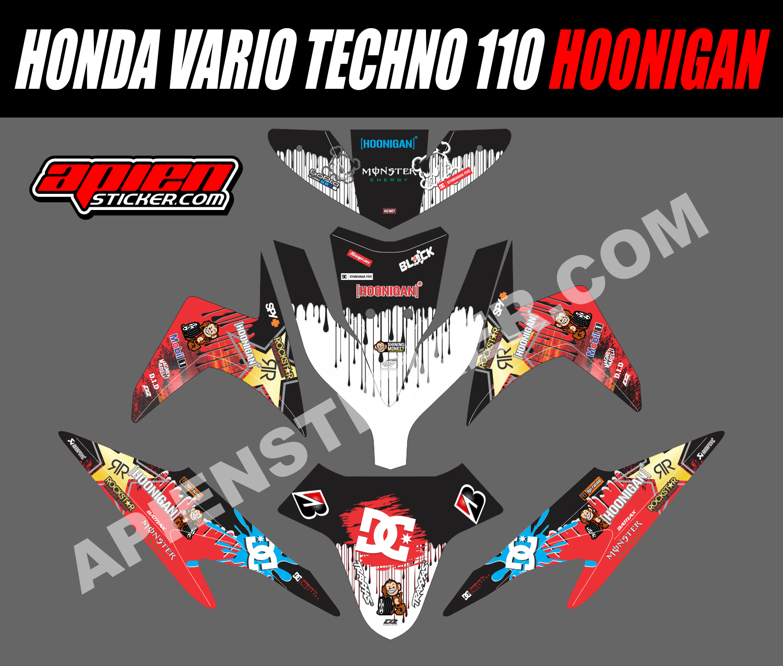 Striping motor vario techno 110 hoonigan apien sticker