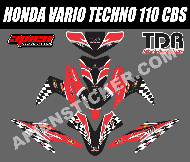 Striping motor vario techno 110 tdr racing apien sticker
