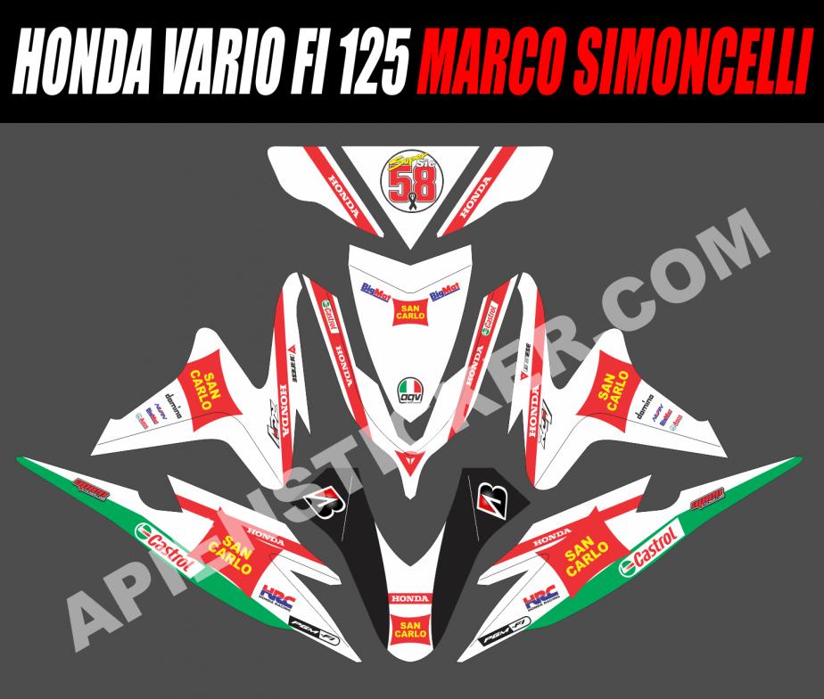 Striping Motor Vario FI 125 Marco Simoncelli   Apien Sticker