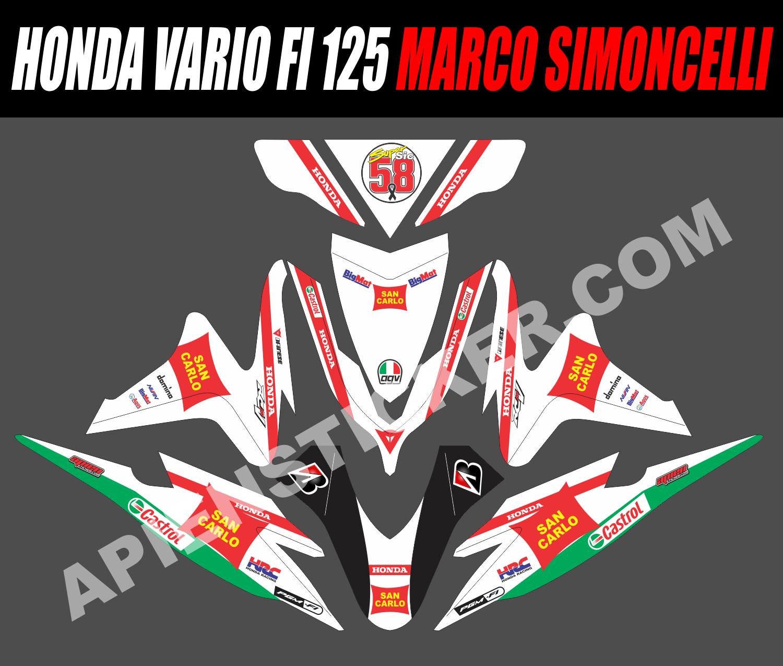 Striping Motor Vario FI 125 Marco Simoncelli | Apien Sticker