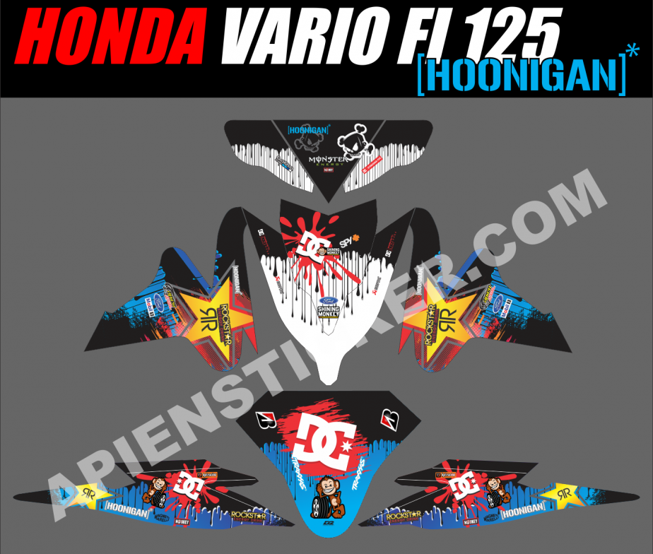 Striping motor vario fi 125 hoonigan car