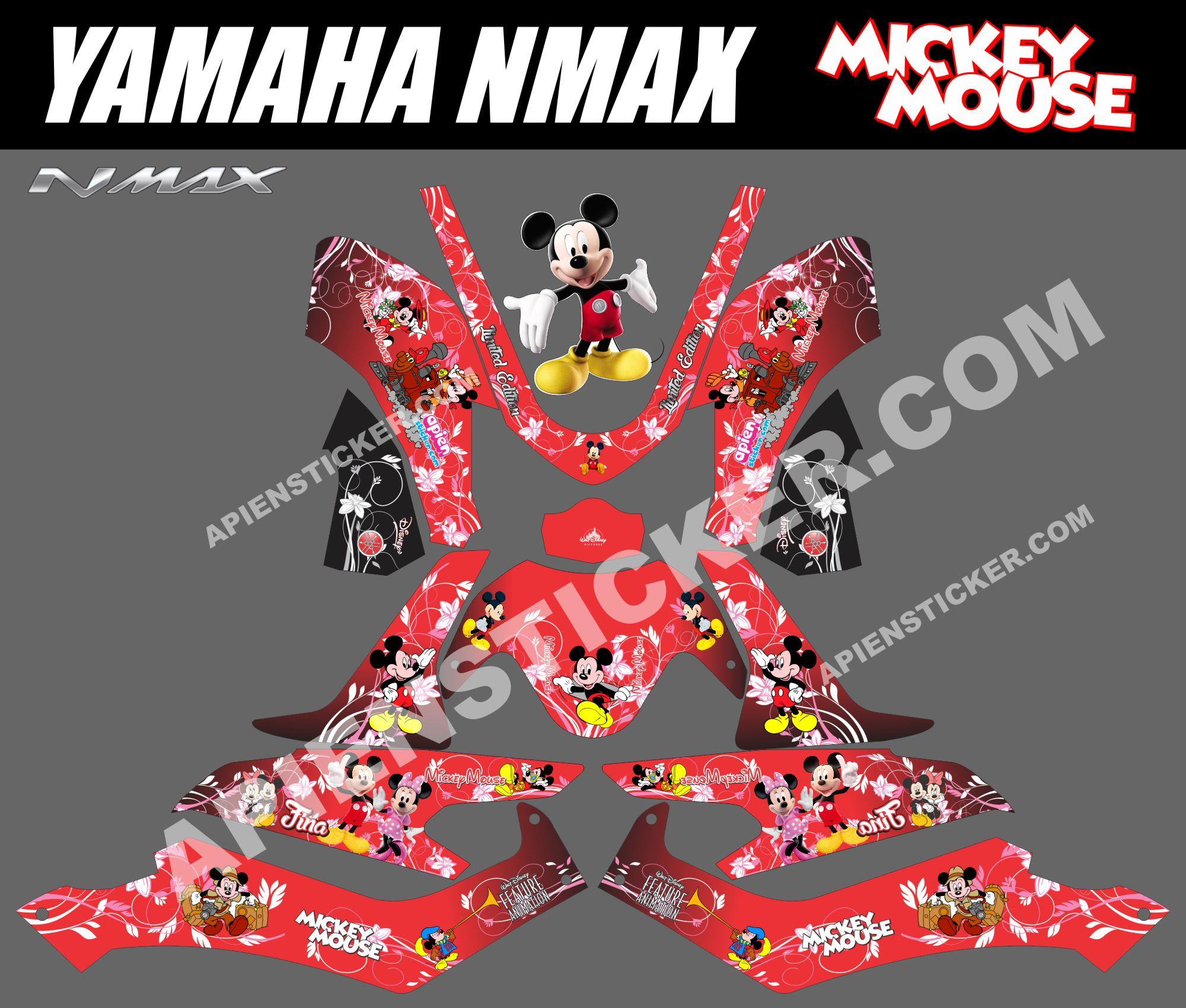 modifikasi cutting sticker yamaha nmax modifikasi
