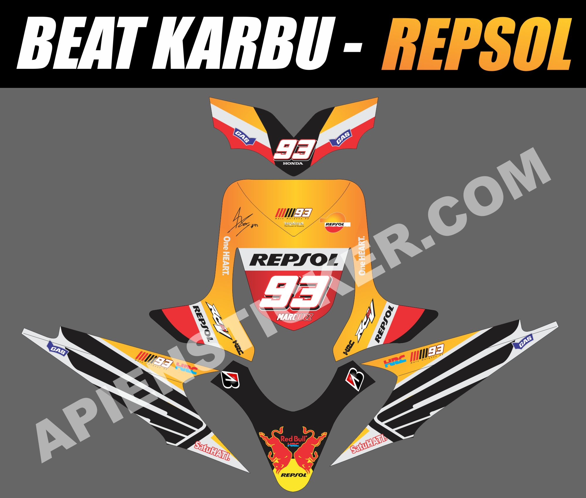 Striping motor beat karbu repsol 2015