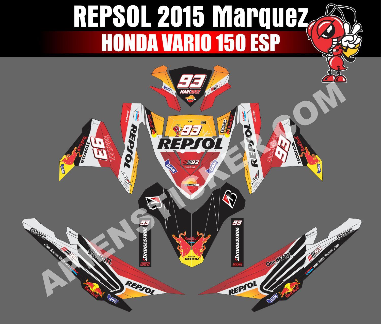 Striping motor vario 150 esp repsol 2015 marc apien sticker