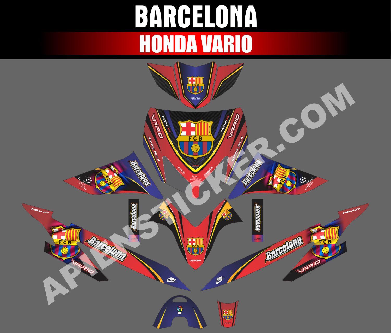 Striping motor vario lama barcelona apien sticker