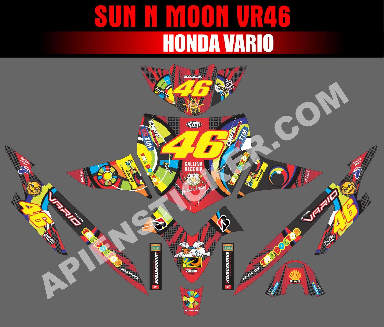 Striping motor vario lama sun n moon vr46