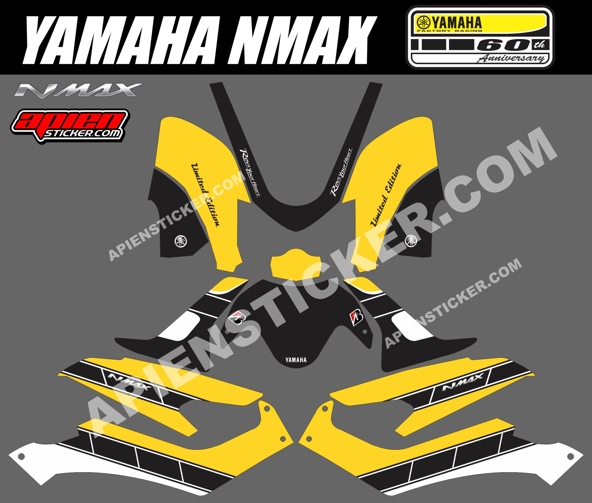 modifikasi stiker motor yamaha nmax modifikasi yamah nmax