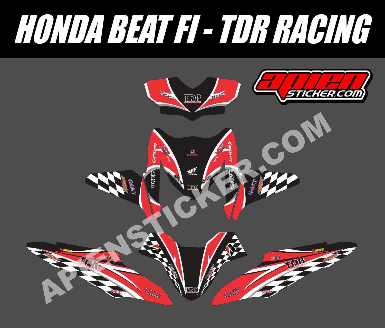 Stiker Body Honda Beat Karbu Decal Sticker Striping Variasi Fullbody Klx 150 S Motor Fi Tdr Racing Apien